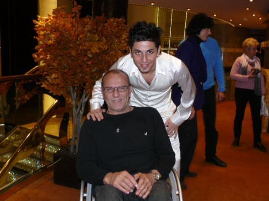 Avec Fred d'Angelo - jeune chanteur pétri de talent