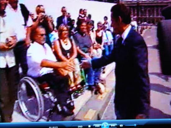 Poignée de mains avec Nicolas Sarkozy