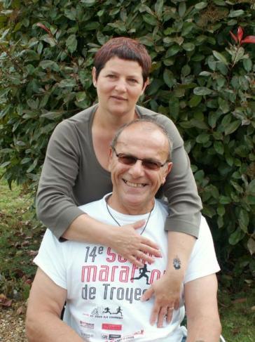 Avec Catherine, avril 2007